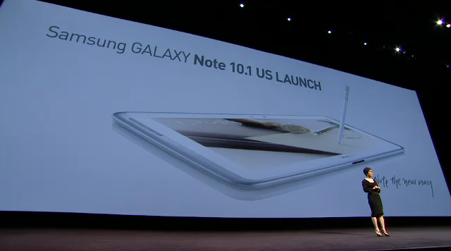 Samsung Galaxy Note 10.1 Launch with Younghee Lee