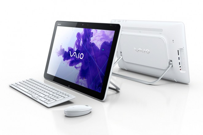 Sony VAIO Tap 20 Tabletop PC Front and Back