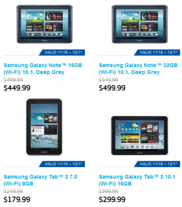 Samsung Galaxy Tablet Deals