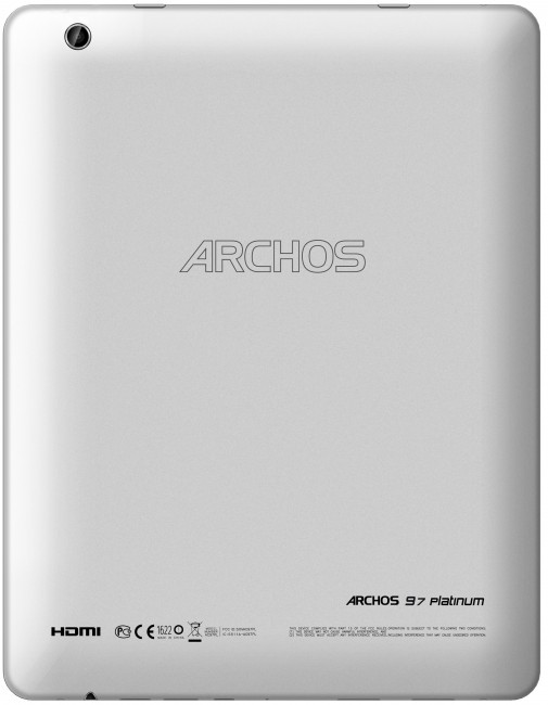 Back of Archos 97 Platinum
