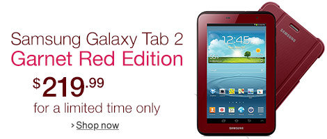 Buy Garnet Red Galaxy Tab 2 7.0