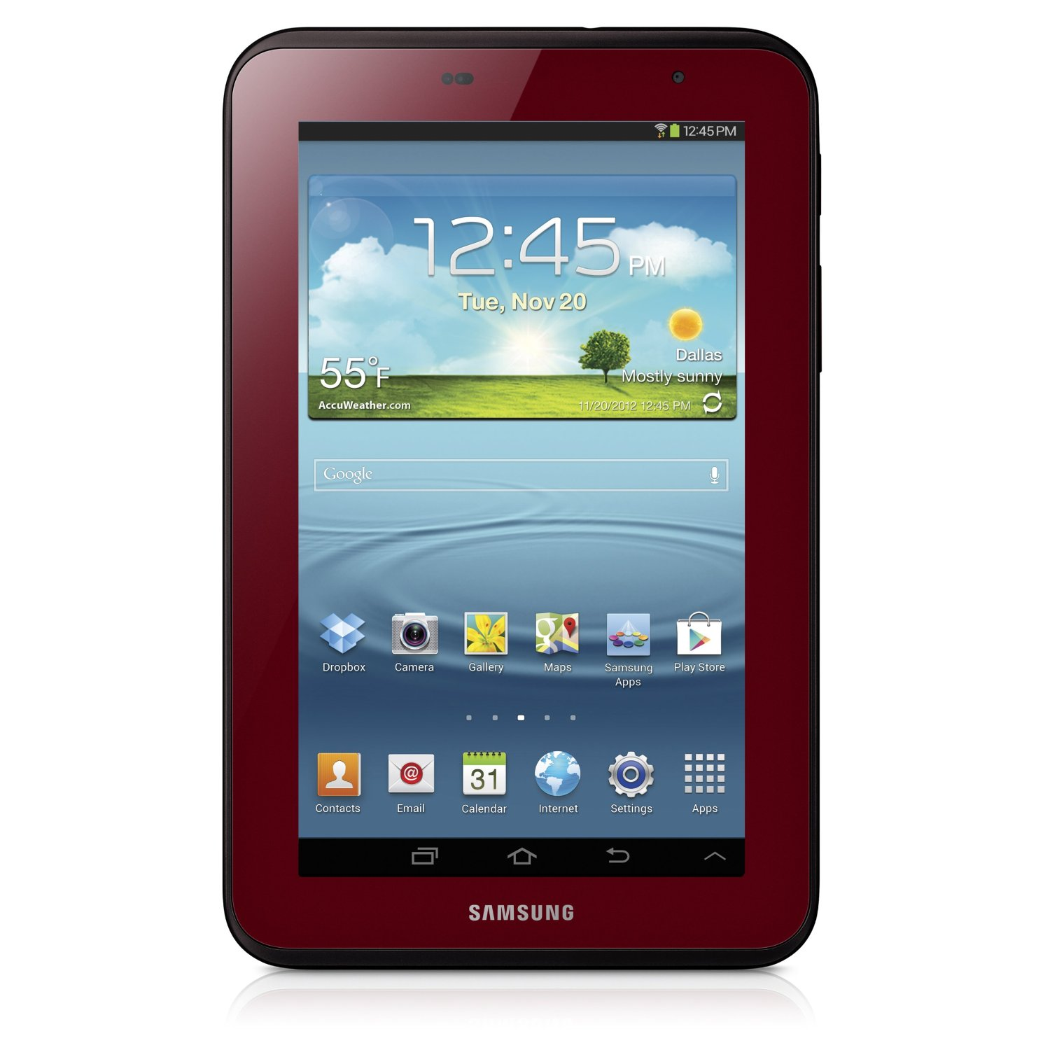 Samsung galaxy tab 7 0 in garnet red for valentine 39 s day for Samsung galaxy s tablet