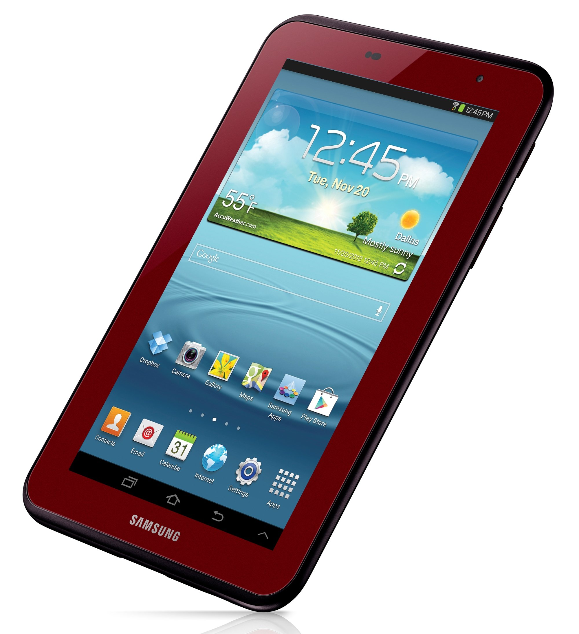 samsung galaxy tab 7 0 in garnet red for valentine 39 s day. Black Bedroom Furniture Sets. Home Design Ideas