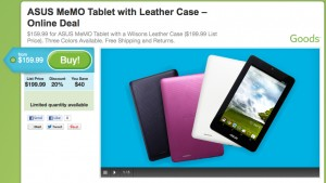 Asus MeMO Pad release by Groupon April 6 2013
