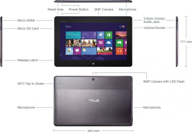 Windows 8 RT Asus VivoTab RT TF600T