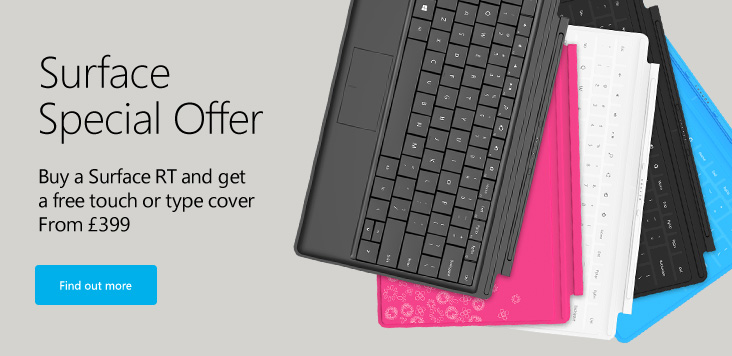 Microsoft Store UK Free Touch Type Keyboard Cover