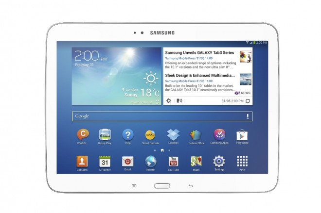 Samsung Galaxy Tab 3 10.1 Front View