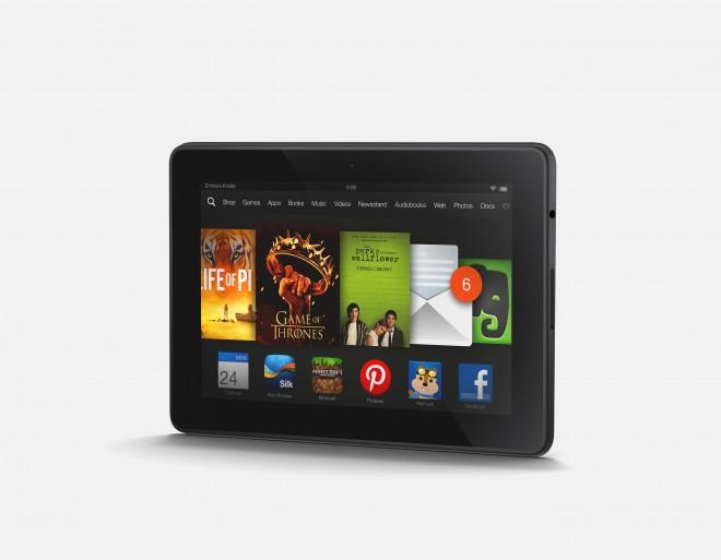 Kindle Fire HDX 7 in landscape mode
