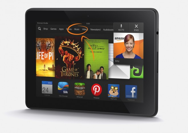 Kindle Fire HDX Mayday Button
