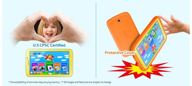 Drop Protection on Samsung Galaxy Tab 3 Kids Edition