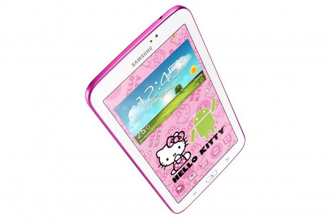 Samsung GALAXY Tab 3 7.0 Hello Kitty Edition - top angle