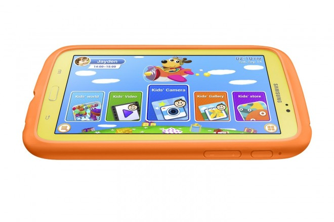 Samsung Galaxy Tab 3 Kids Edition in Orange Bumper Case