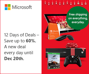 Microsoft Store 12 Days of Deals in US and Canada - Christmas 2013