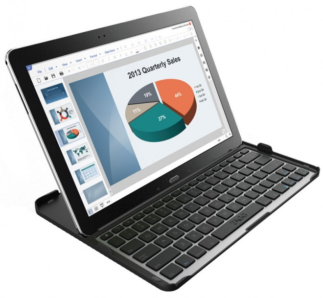 Samsung Galaxy NotePRO with ZAGG keyboard