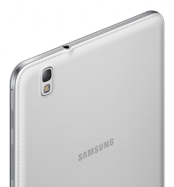 Back of Samsung Galaxy TabPRO 8.4 showing camera and LED flash