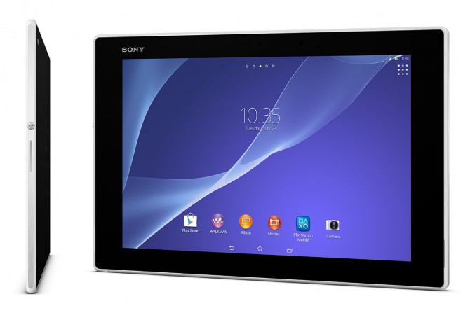 Sony Xperia Z2 Tablet in white