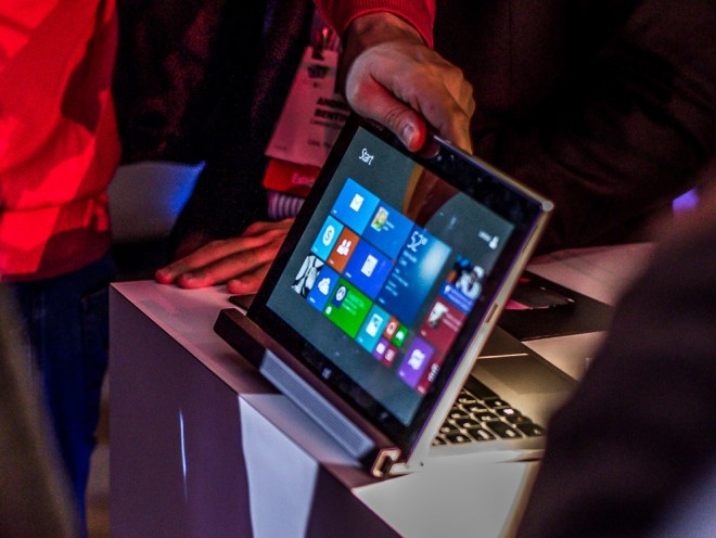 Lenovo Miix 2 11 on display at unveiling