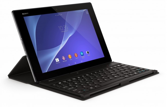 Sony Xperia Z2 Tablet with Bluetooth Keyboard and Cover Stand BKC50
