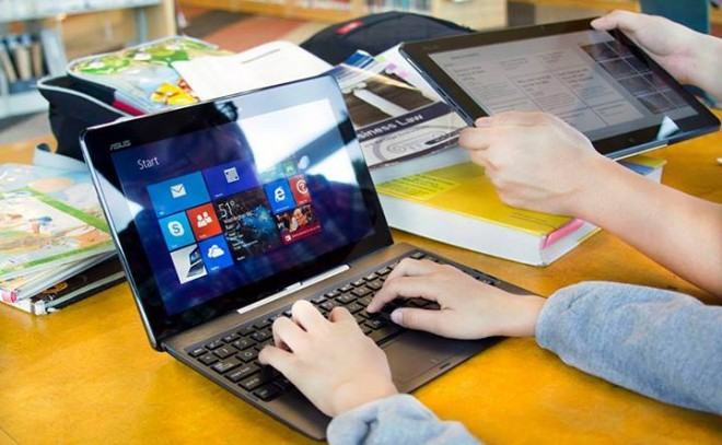 Like this, only bigger: The 10.1-inch Asus Transformer Book T100