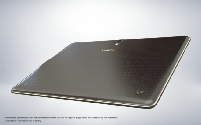 Design of Samsung Galaxy Tab S
