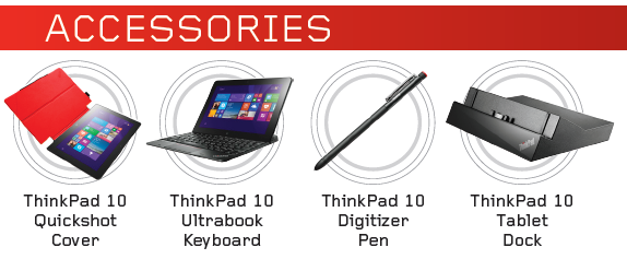 Lenovo ThinkPad 10 accessories