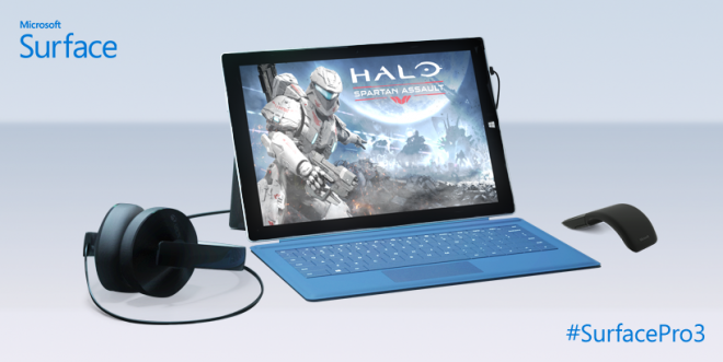 Microsoft Surface Pro 3 with mouse