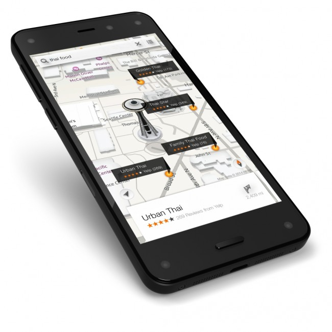 Maps on Amazon Fire phone