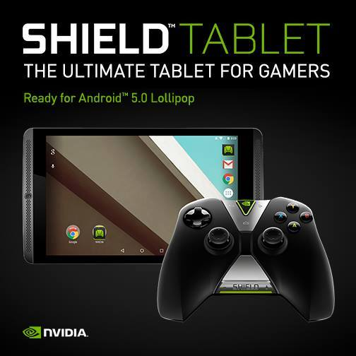 Shield Tablet with Android 5.0