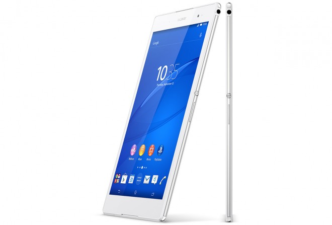 A white Sony Xperia Z3 Tablet Compact