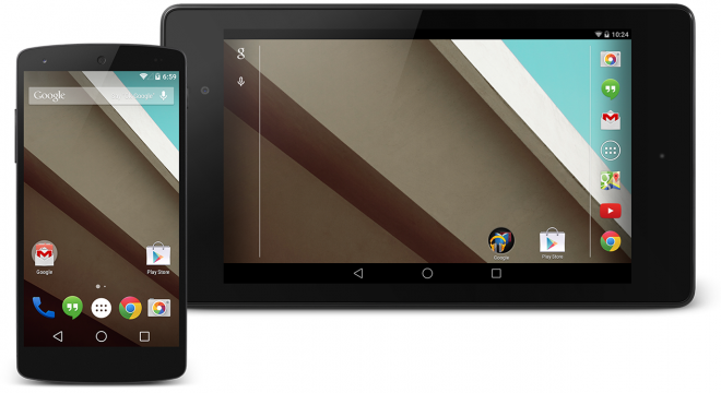 Android L 5 user interface