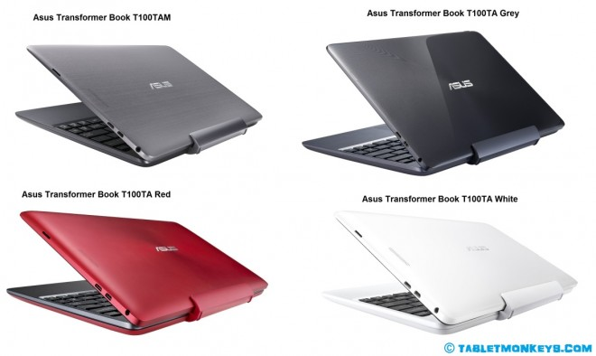 Asus Transformer Book T100 tablets family