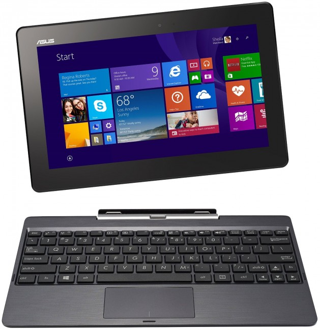 Grey Metal Asus Transformer Book T100TAM with 500GB keyboard