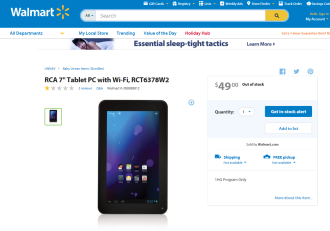 One of the RCA tablets in question