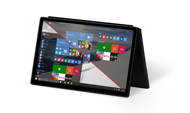Windows 10 on tablet