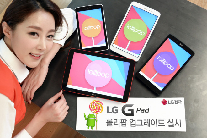 LG G Pad Android 5.0 Lollipop