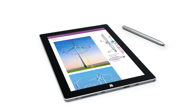 Make notes with Surface 3