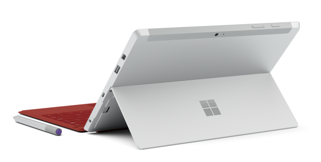 Surface 3 rear with kickstand out