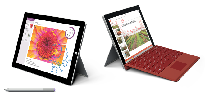 Surface 3 tablet and 2-in-1 laptop