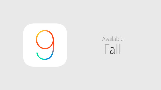 iOS 9 in fall