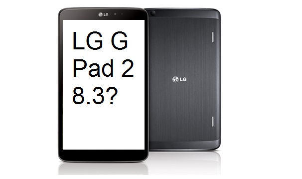 LG G Pad 2 8.3 illustration based on the first generation model