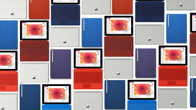 Microsoft Surface 3 color options