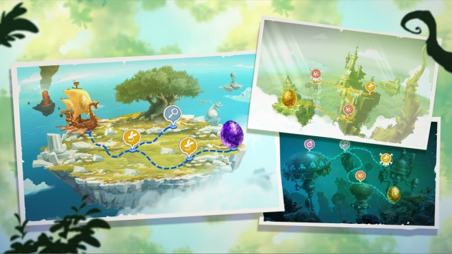 Outline of some of the Rayman Adventures