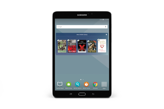 Samsung Galaxy Tab S2 NOOK Home screen