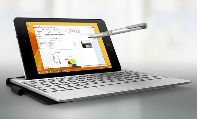 HP Envy 8 Note pen and keyboard