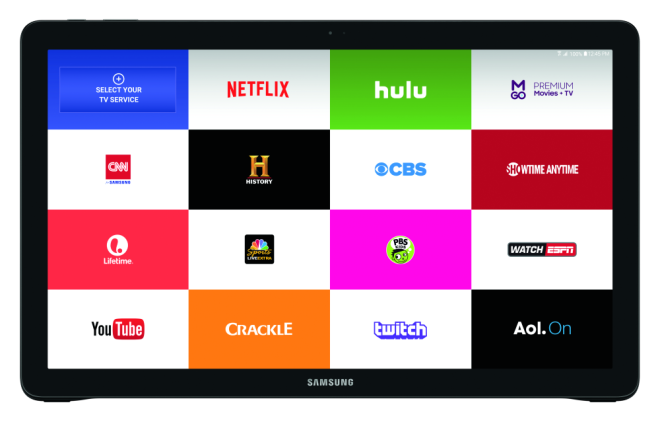 Samsung Galaxy View apps