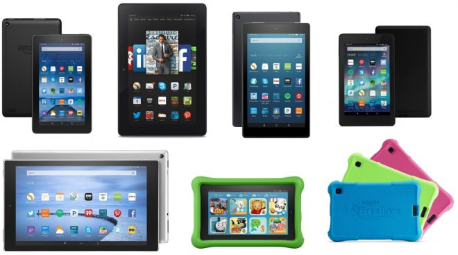 Amazon Fire Tablet Models 2016-2017