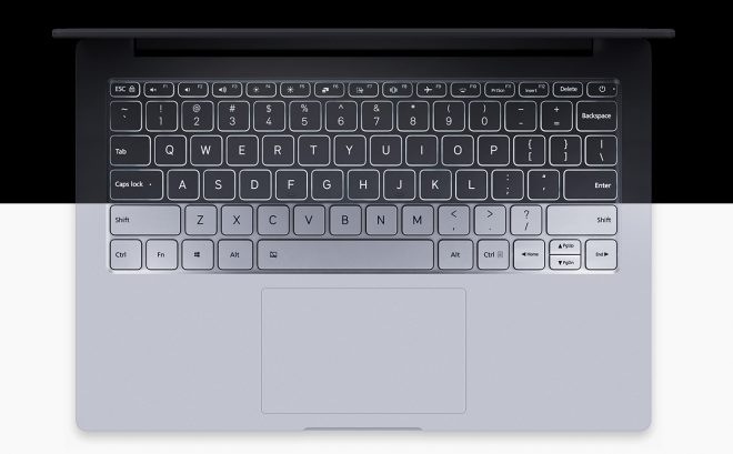 Small laptop with backlit keyboard