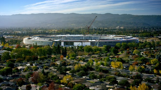 Apple Park under construction
