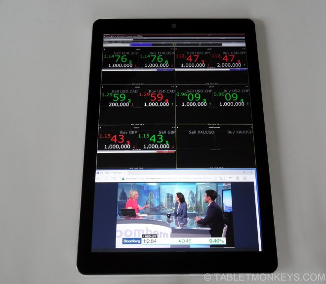 Chuwi Hi13 Review  - business trading tablet -  forex charts