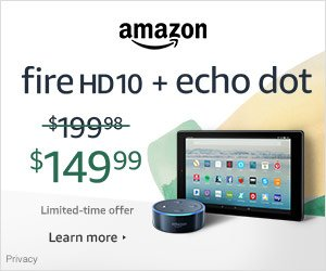 Amazon Fire HD 10 Bundle Echo Dot Sale